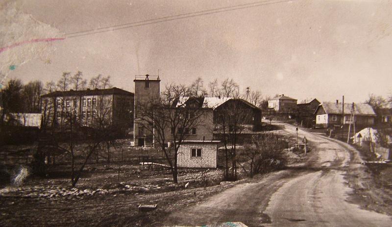 Centrum Łęk Dukielskich w 1981 roku i dom Karola Rogali