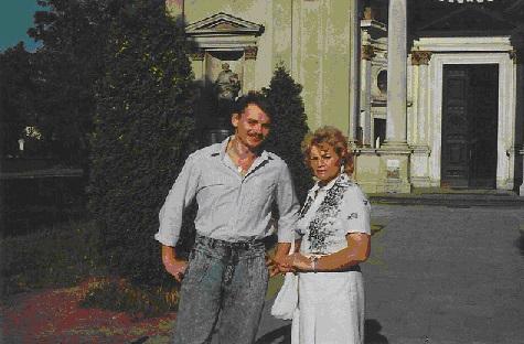 Jacek Rogala, wnuk Karola, z mamą Zosią